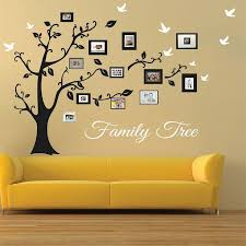 picture frame family tree wall art tree decals trendy wall designs on wall art tree images with picture frame family tree wall art large wall murals pinterest