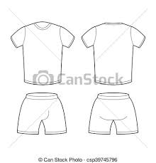 Shorts Design Template T Shirt And Shorts Template For Design Sample For Sports Clothing Soccer Football Shape Blank Curve