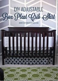 diy adjustable box pleat crib skirt tutorial at thatswhatchesaid com