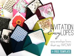 Free Invitation Template Downloads Gorgeous Free Template For Easy Envelope Liners