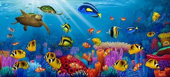 turtle painting sea of life