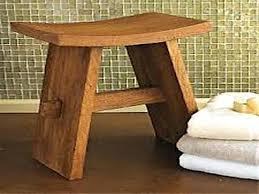 wooden shower bench shower bench on bathroom