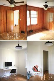 diy painting wood paneling painted wood panelling before and after if we leave the wood