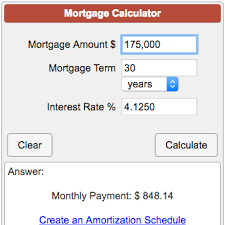 House Amortization Payment Calculator Mortgage Calculator