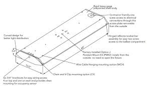 4 foot 4 lamp 54w t5ho high bay fluorescent enhanced specular 95% program rapid start