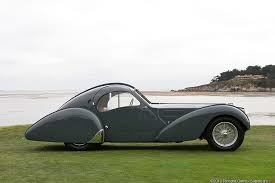 The first atlantic with the chassis no 57473 was originally sold to the parisian business man known as la voiture noire (the black car), the missing bugatti type 57sc atlantic was used in promotional materials after it was given to its owner. Bugatti Type 57sc Atlantic