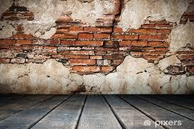 ed plaster of old brick wall wall