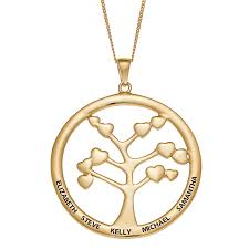 gold over sterling family tree of life engraved name pendant 39372 limoges jewelry