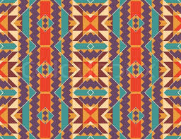 Navajo Pattern Unique Seamless Colorful Navajo Pattern Vector Illustration Stock Vector