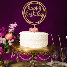 2019 Wholesale Acrylic Happy Birthday Cake Topper Happy Mothers Day
