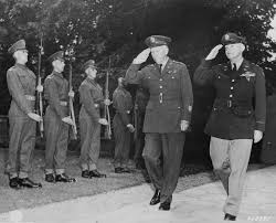 Photo] George Marshall and Henry Arnold arriving at Winston Churchill's  residence during the Potsdam Conference, Germany, 23 Jul 1945; note British  Scots Guards regiment honor guard | World War II Database
