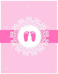 baby girl invite baby girl arrival invitation card background