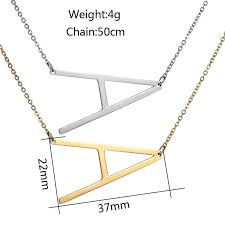 <b>Fashion</b> A-Z Stainless Steel English Letter <b>Name Necklace</b> – Get Me ...