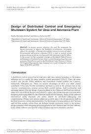 Emergency Shutdown System Design Philosophy Pdf Design Of Distributed Control And Emergency Shutdown