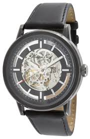 amazon com kenneth cole new york men s kc1632 skeleton dial amazon com kenneth cole new york men s kc1632 skeleton dial automatic analog leather strap watch kenneth cole watches