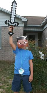 minecraft costume steve head