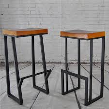 wood and iron furniture. retro nostalgia wrought iron barstool american wood bar stool chair chairs cafe tea and furniture