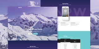 psd facebook cover brand page mockup design template snow a bootstrap landing page theme