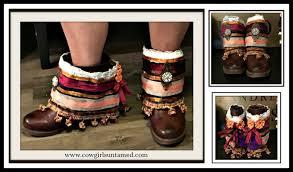 ribbon fringe lace jewel embellished jean drawstring boot rugs