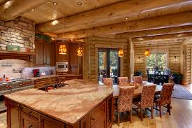Cabin Kitchens Stunning Log Cabin Kitchens And Baths Ginkofinancial