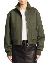 rag bone aviator wool blend er jacket heather green women s unique style whole
