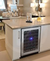 Kitchen with Wine Cooler by Vinotemp contemporary-kitchen