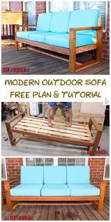 diy modern outdoor sofa tutorial