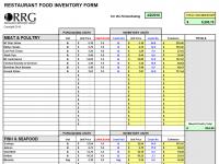Restaurant Spreadsheets Workbooks In Excel Format