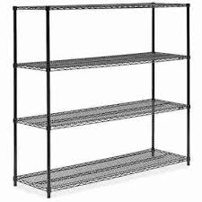 attractive black wire shelving unit 60 x 18 72 h 2424 uline lowe wall mount part