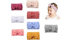 6 PCS Baby Girls <b>Bowknot</b> Headbands Elastic <b>Soft</b> Hairbands ...