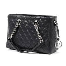 Versace 19.69 V Italia Quilted Chain Handbag Black Leather B2b ... & 123456 Adamdwight.com
