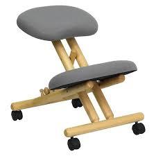 Ergonomic kneeling office chairs Forward Leaning Office Walmart Wooden Ergonomic Kneeling Posture Office Chair Grey Walmartcom