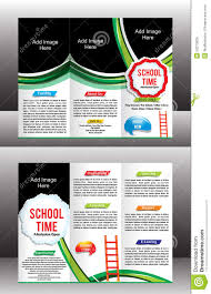 tri fold school brochure template tri fold school brochure template stock vector illustration of
