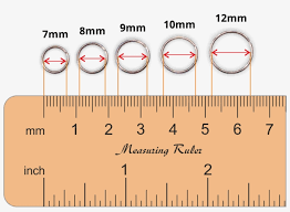 Piercing Length Chart Nose Ring Sizes Chart Nose Piercing Free Transparent Png