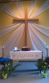 easter with sheer curtains church art pinterest sheer