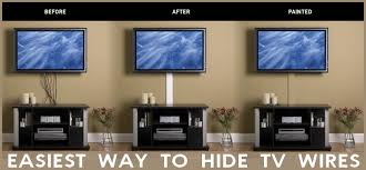 Can't hide TV wires in the wall? Here is the easiest way to