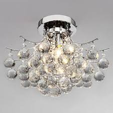 loco chrome finish crystal chandelier with 3 lights