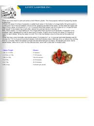 Lobster Cooking Time Chart Template 2 Free Templates In