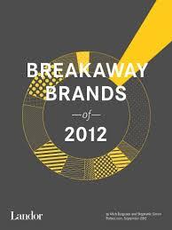 Breakaway Brands 2012 Landor Associates Ranking The Brands