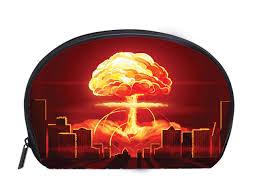 Atomic Bomb Light Fixture Amazon Com Half Moon Cosmetic Bag Nuclear Explosion Atomic