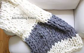 Arm Knitting Patterns Custom Arm Knitting Pattern Color Block Throw Chunky Throw