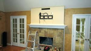 hanging tv above fireplace mounting above fireplace mounting flat screen over stone fireplace best image com