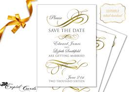 save the date template free download save the date templates free download gold save the date template
