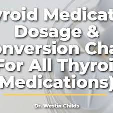 Thyroid Dosage Chart Thyroid Medication Conversion Chart 3 Charts Which To Use