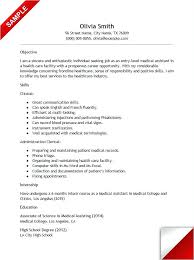 Medical School Resume Samples Entry Level Medical Assistant Resume