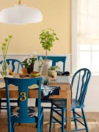 paint colors for dining room chairs. get the look: mismatched chairs. painted dining paint colors for room chairs t