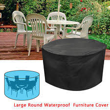large garden furniture cover. VonHaus Large Round Waterproof Garden Table \u0026 Chair Patio Furniture Set Cover H
