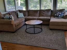 how to place a rug under a sectional sofa rug under a sectional couch decoration