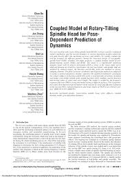 PDF) Coupled Model of Rotary-Tilting Spindle Head for Pose-Dependent  Prediction of Dynamics