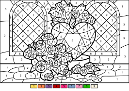 Everyone loves color by numbers, kids and adults alike. 42 Awesome Number Coloring Pages Printable Picture Inspirations Math Worksheet